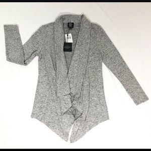Bobeau grey flow cardigan